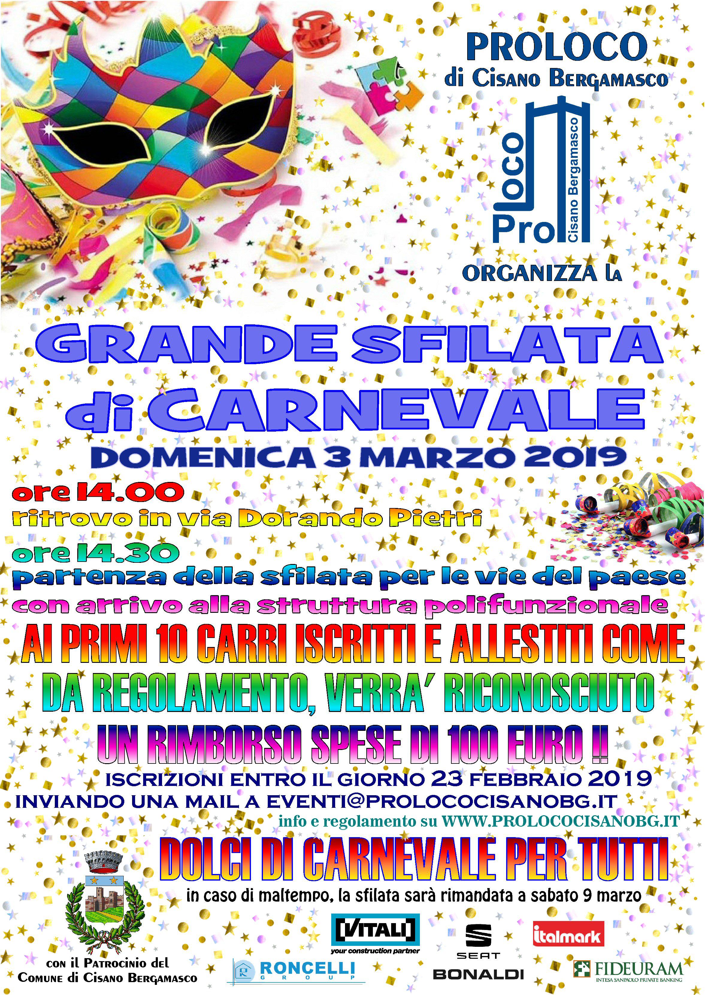 Grande Sfilata di Carnevale 2019