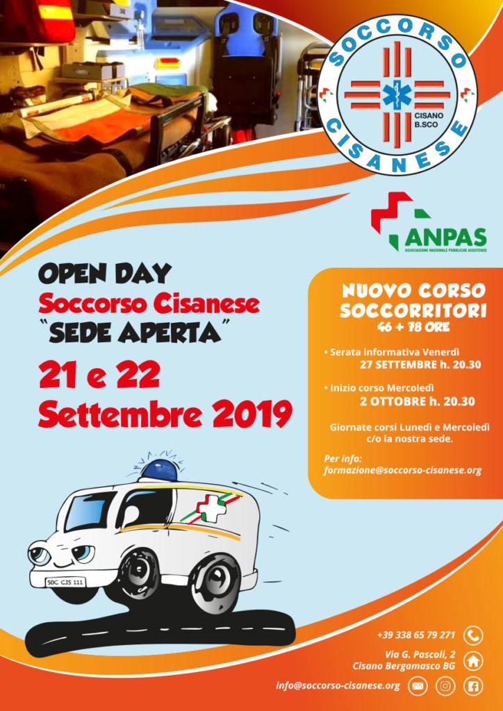 Open Day 21-22 Settembre Soccorso Cisanese
